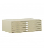 "Sandusky 5-Drawer Flat File Cabinet for 36"" x 48"" Sheets (Shown in Putty)"