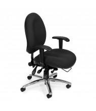 OFM 247 Big & Tall 400 lb. 24/7 24-Hour Fabric Mid-Back Task Chair (black)