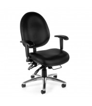 OFM 247-VAM Big & Tall 400 lb. 24/7 24-Hour Anti-Microbial Vinyl Mid-Back Task Chair (black)