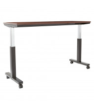 """Office Star 72"""" W x 24"""" D Pneumatic 30.25"""" - 43.25"""" Height Adjustable Table (Shown in Mahogany)"""
