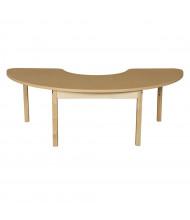 "Wood Designs 76"" W x 24"" D Half Circle High Pressure Laminate Elementary School Tables"