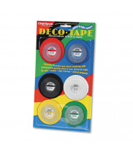 "Chartpak 1/8"" x 9 yds Deco Bright Decorative Tape, Assorted, 6-Pack"