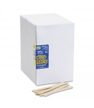 "Chenille Kraft 4-1/2"" x 3/8"" Natural Economy Grade Wood Craft Sticks, 1000/Box"