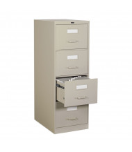 "Global 25-450 4-Drawer 25"" Deep Vertical File Cabinet, Legal Shown in Desert Putty"