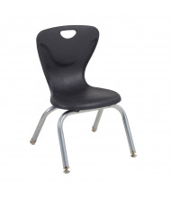 ECR4Kids Contour Stacking Classroom Chairs, 4-Pack (Shown in Black)