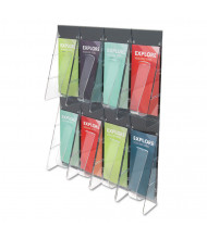 "Deflect-o Stand Tall 24"" H 8-Compartment Wall-Mount Literature Display"
