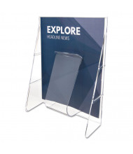 "Deflect-o Stand Tall 12"" H 1-Compartment Literature Holder Display"