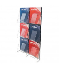 "Deflect-o Stand Tall 35"" H 6-Compartment Wall-Mount Literature Display"