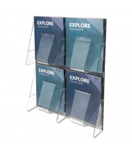 "Deflect-o Stand Tall 24"" H 4-Compartment Wall-Mount Literature Display"