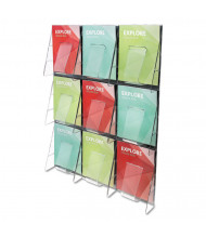 "Deflect-o Stand Tall 35"" H 9-Compartment Wall-Mount Literature Display"