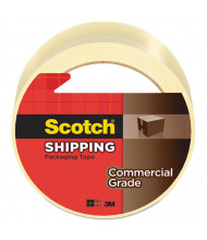 """Scotch 1.88"""" x 54.6 yds Clear Commercial Grade Packaging Tape, 3"""" Core"""