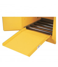 Just-Rite 25932 Drum Ramp for Safety Drum Cabinets (example of use)