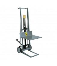 Wesco 2-Wheel 400 lb Load Hydraulic Pedalift Platform Stacker