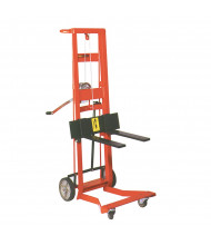 Wesco 4-Wheel 750 lb Load Manual Hand Winch Fork Stacker