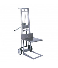 Wesco 2-Wheel 400 lb Load Manual Hand Winch Platform Stacker