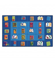 Carpets for Kids Reading by the Book Seating Classroom Rug