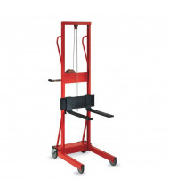 "Wesco Lite-Lift 500 lb Load 54"" Manual Hand Winch Lifts (Fork Model Shown)"