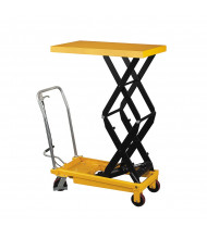 "Wesco LT-1540DSL 59"" H Double Scissor Lift Table 1,540 lb Load 24"" x 48"""