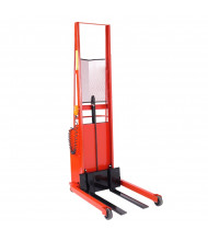 "Wesco Powered 1000 lb Load 56"" to 76"" Lift Fork Stackers with Power Drive"