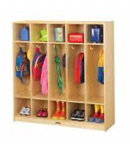 Jonti-Craft ThriftyKYDZ 5-Section Cubbie Coat Locker