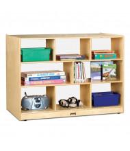Jonti-Craft Super-Sized Plexi Back Single Mobile Classroom Storage Unit
