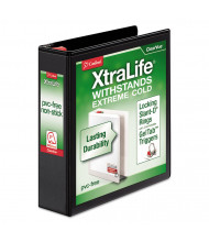 "Cardinal 2"" Capacity 8-1/2"" x 11"" Slant-D Ring XtraLife View Binder, Black"