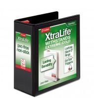 "Cardinal 4"" Capacity 8-1/2"" x 11"" Slant-D Ring XtraLife View Binder, Black"