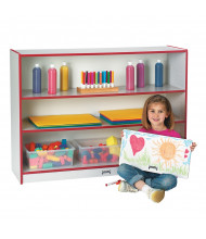 Jonti-Craft Rainbow Accents Super-Sized 3-Shelf Adjustable Classroom Bookcase (red)