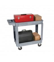 """Wesco DPC-1630 550 lb Load 16"""" x 30"""" Deluxe Plastic Service Cart"""
