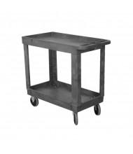 """Wesco EPC-1630 300 lb Load 16"""" x 30"""" Plastic Service Cart"""