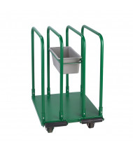 "Wesco Standard Greenline 1540 lb Load 27"" x 32"" Panel Cart 272226"