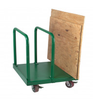 "Wesco Heavy Duty Greenline 4400 lb Load 29"" x 36"" Panel Cart 272227"