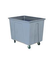 """Wesco 16 Bushel 128 Gallon 5"""" Casters Plastic Box Trucks, 600 lb Load (Grey)"""