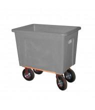 """Wesco 20 Bushel 160 Gallon 8"""" Casters Plastic Box Trucks, 600 lb Load (Grey)"""