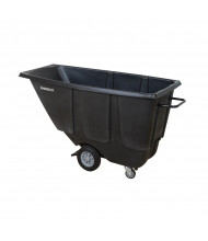 Wesco 1/2 U450B 450 lb Load Utility Tilt Cart Dump Truck, Black