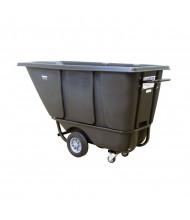 Wesco 1/2 S850B 850 lb Load Poly Tilt Cart Dump Truck, Black