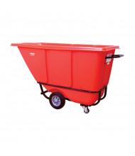 Wesco 1/2 S850R 850 lb Load Poly Tilt Cart Dump Truck, Red