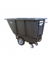 Wesco 1/2 HD1400B 1400 lb Load Heavy-Duty Poly Tilt Cart Dump Truck, Black