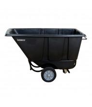Wesco 1/2 FL850B 850 lb Load Fork Liftable Poly Tilt Cart, Black