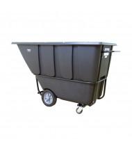 Wesco 1HD2100B 2100 lb Load Heavy-Duty Poly Tilt Cart Dump Truck, Black