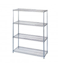 "Wesco 4-Shelf 18"" D x 36"" W Chrome Wire Shelving Units"