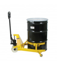 Wesco PTDL 55-Gallon Steel Drum Lifter Pallet Truck, 660 lb Load
