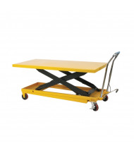 "Wesco LDT-3263 Long Deck Scissors Lift Table 1100 lb Load 63"" x 32"""
