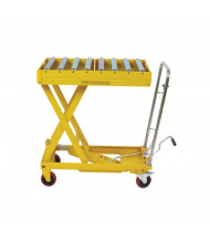 "Wesco DRT-2033 Roller Top Scissors Lift Table 660 lb Load 19.5"" x 32.5"""