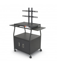 Balt 27531M Wide Body Flat Panel AV Cart with Cabinet