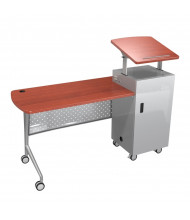 "Balt 27692 Trend 60"" Teacher's Mobile Podium Desk (shown with optional AV panel)"
