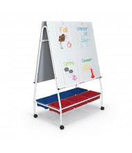 "Best-Rite 27701 42.5"" x 39.5"" Lap Board Teacher Dry Erase Mobile Easel"