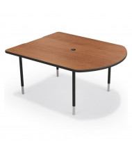 "Balt MediaSpace 60"" W x 48"" D Adjustable Makerspace School Table (Shown in Amber Cherry/Black)"