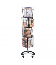 """Safco 60"""" H 16-Compartment Rotary Floor Display"""