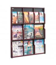 "Safco 38"" 9-Pocket Magazine and Pamphlet Display, Mahogany"